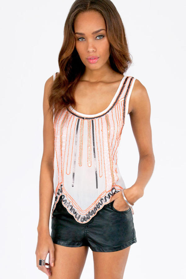 Launch Sequins Tank