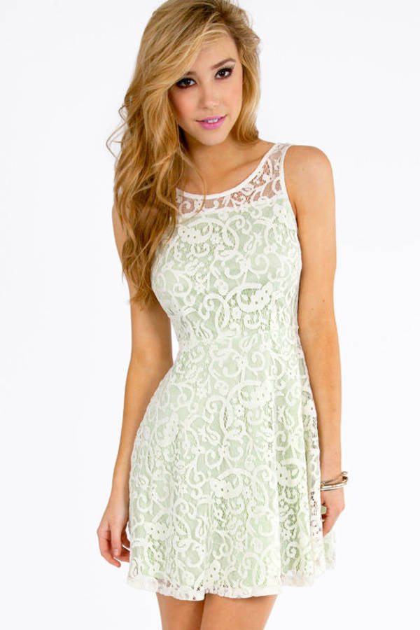 Lianna Lace Skater Dress