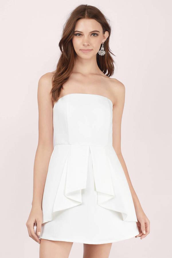 Ivory Dress - White Dress - Ivory Cocktail Dress - Skater Dress - S ... 70c3a5243