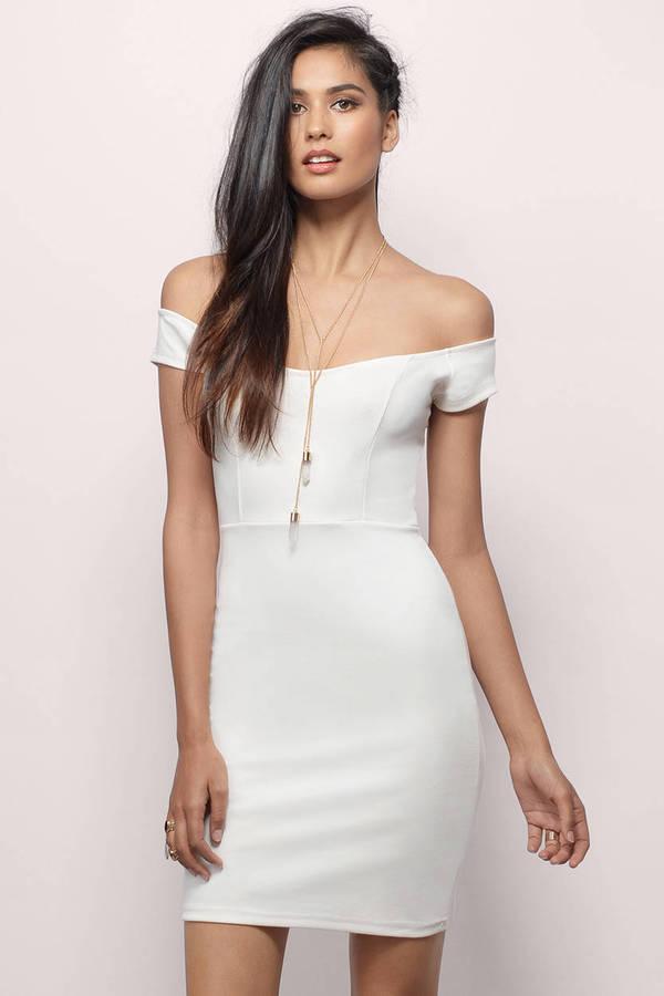 Off My Shoulders Mini Dress