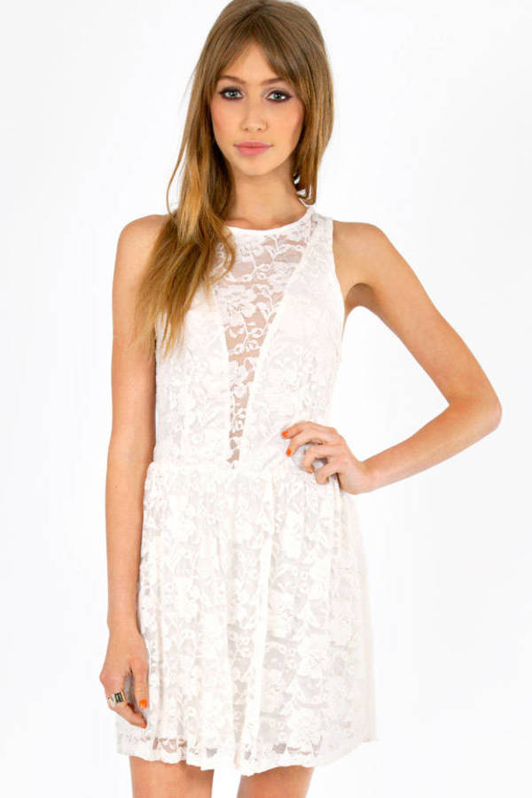 Shelly Lace Skater Dress