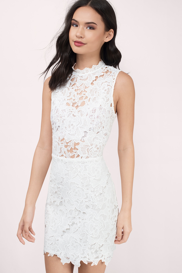 c9c5142969 Lace Dress - Bubblegum Dress - Bodycon Dress - Beautiful Ivory Dress ...