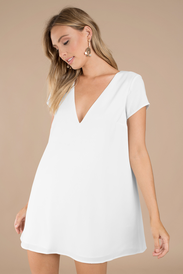 Wedding Guest Dresses, Ivory, Swoop In Shift Dress, ...