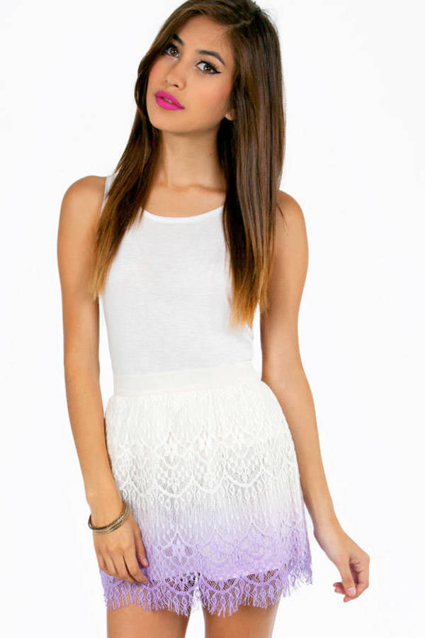 Ombre Lace Crochet Skirt