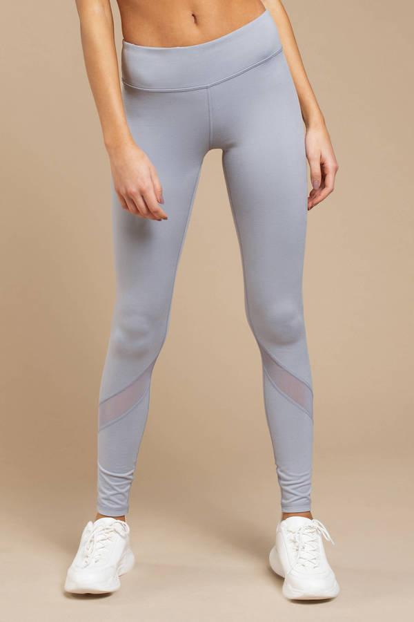 e4b7d3a328978 Mesh Clothing, Light Blue, Ellen Mesh Full Length Leggings, ...
