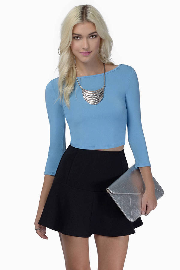 Naya Split Back Crop Top