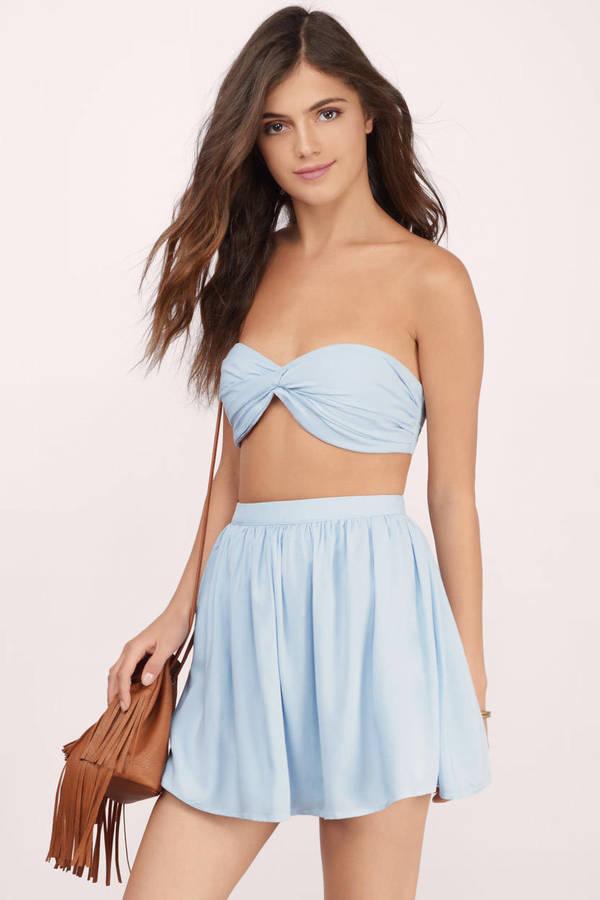 Two Piece Dresses Crop Top And Skirt Set 2 Piece Dress