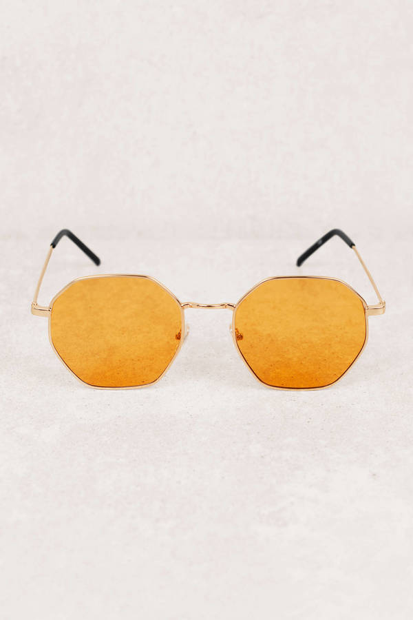 c2ecb8f450f Light Brown Sunglasses - Octagon Sunglasses - Light Brown Festival ...
