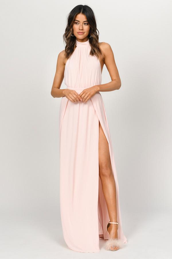1d662fb6e1 Sexy Pink Maxi Dress - Romantic Dress - Pink Backless Maxi Dress - S ...