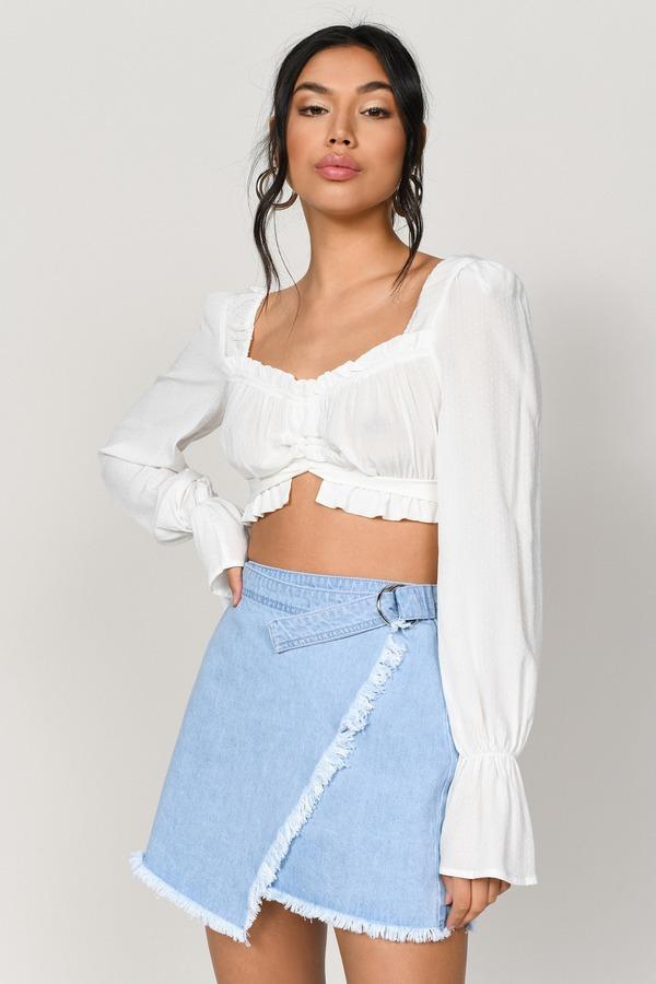 d1226cf24610 Denim Skirts | Black Jean Skirt, White Denim Mini Skirts | Tobi