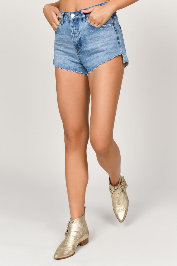 5dc4aafc5b Denim Shorts | Black High Waisted Shorts, White Jean Shorts | Tobi