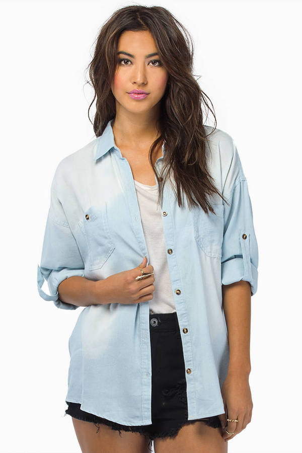Per Denim Button Up Shirt
