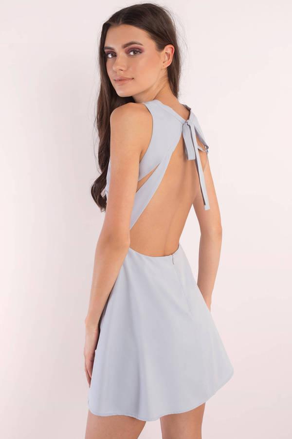 d969fb81a5 Cute Lilac Skater Dress - Open Back Dress - Purple Flare Dress ...