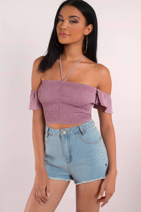 Cute Lilac Crop Top