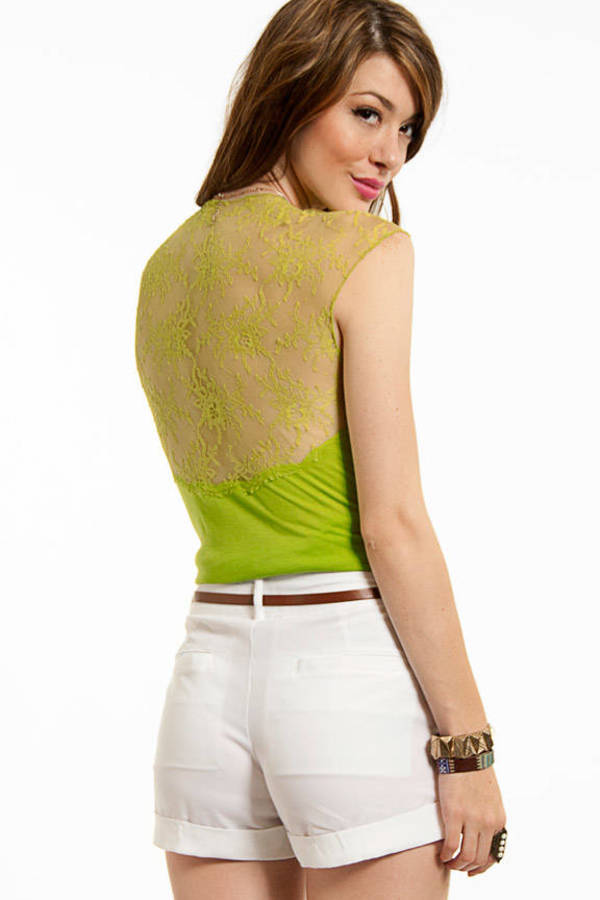 Ruched Lace Top
