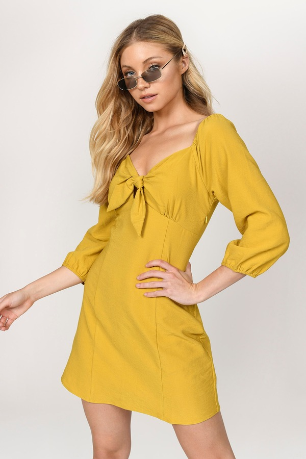 3de9e4031b4 Yellow Dresses