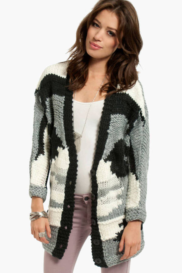 Mix Knit Up Cardigan