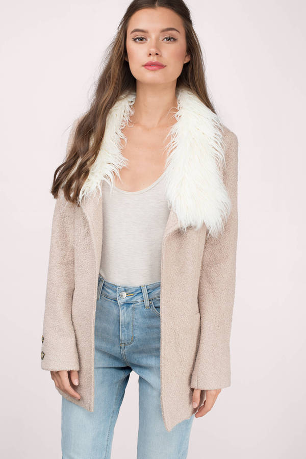 Trendy Mocha Coat - Brown Coat - Faux Fur Coat - Mocha Coat - $32 ...