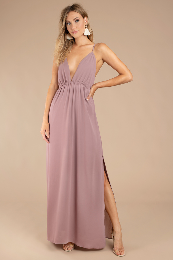 Wedding Guest Dresses Mauve Imagine This Maxi Dress