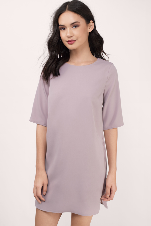 T Shirt Dresses - White- Black- Striped- Flannel- Long T-Shirt- Tobi