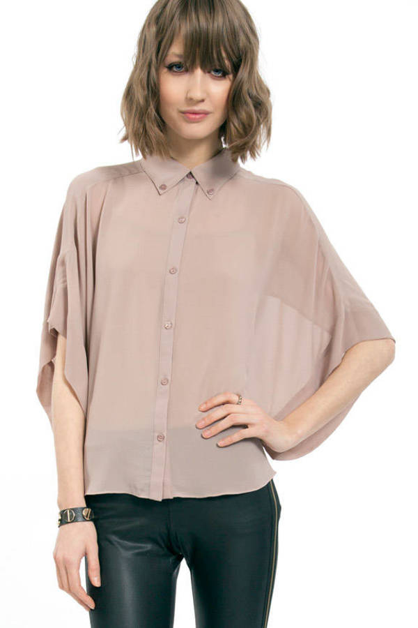 Megan Button Up Blouse