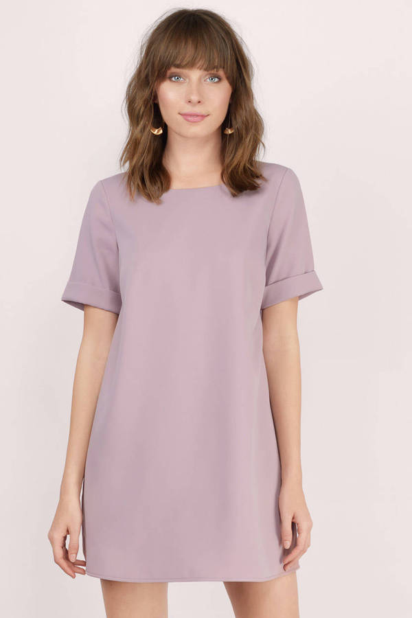 9d641a6158a3 Cute Shirt Dress - Purple Dress - Short Sleeve Dress - Day Dress - C ...