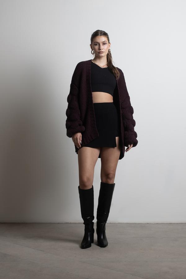 48b1ec59950ba9 Shannon Sienna Oversized Cardigan - $44 | Tobi US