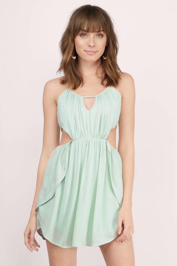 f0bf2c1174b Green Skater Dress - Relaxed Dress - Green Cut Out Dress -  15