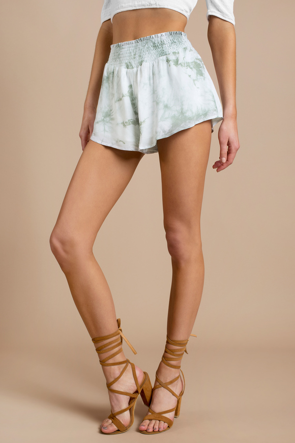 High Waisted Shorts   Denim, Cotton, Flowy   Tobi