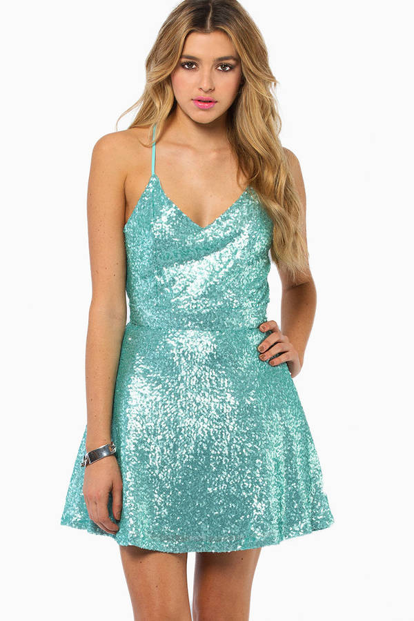 Blue Sequin Dresses | Tobi
