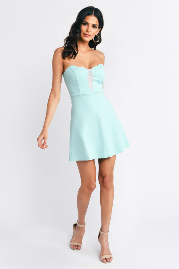 Cute Blush Bodycon Dress - Sweetheart Dress - $14.00