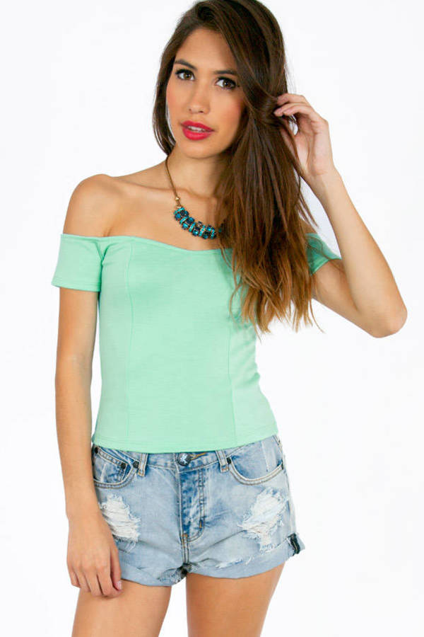 Off My Shoulders Ponti Top