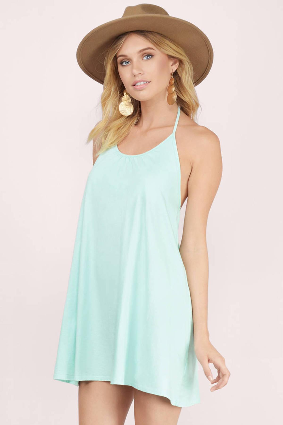 Cute Mint Shift Dress - Backless Dress - Green Dress - $15.00