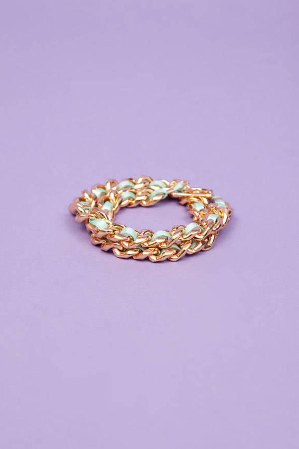 Ribbon Chain Wrap Bracelet