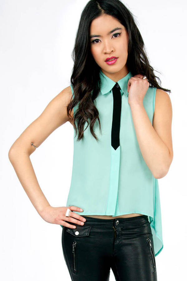 Tied Up Sleeveless Blouse