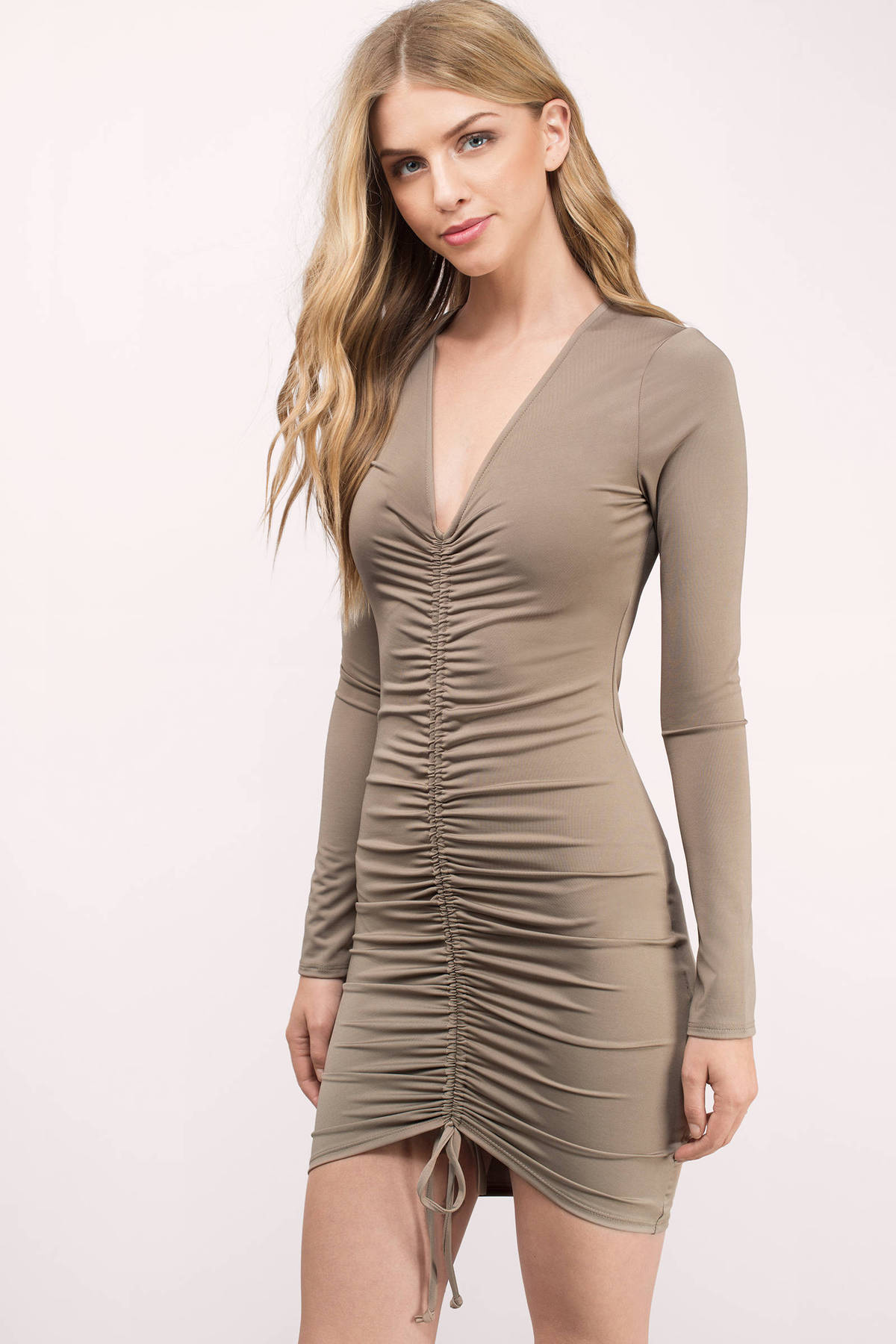 Wedding Ruched Dress sexy mocha bodycon dress brown ruched 29 00 helena jersey knitted dress