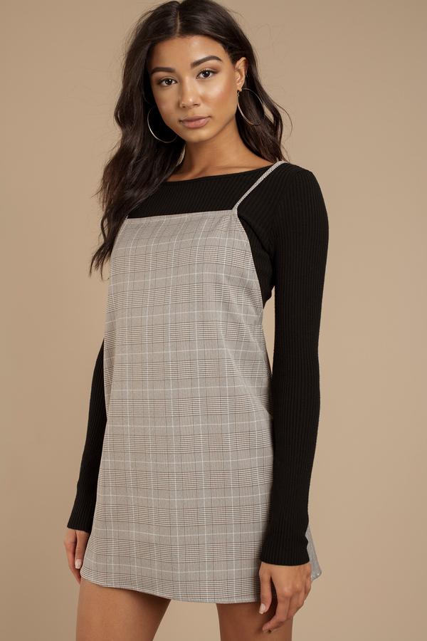 women s plaid dresses cute plaid dress black white plaid tobi