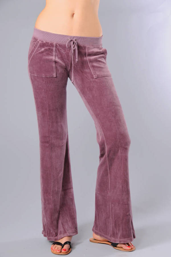 Pink Juicy Couture Pants - Tight Flared Pants - Pink Bell Bottom ... 8bd7a1f17