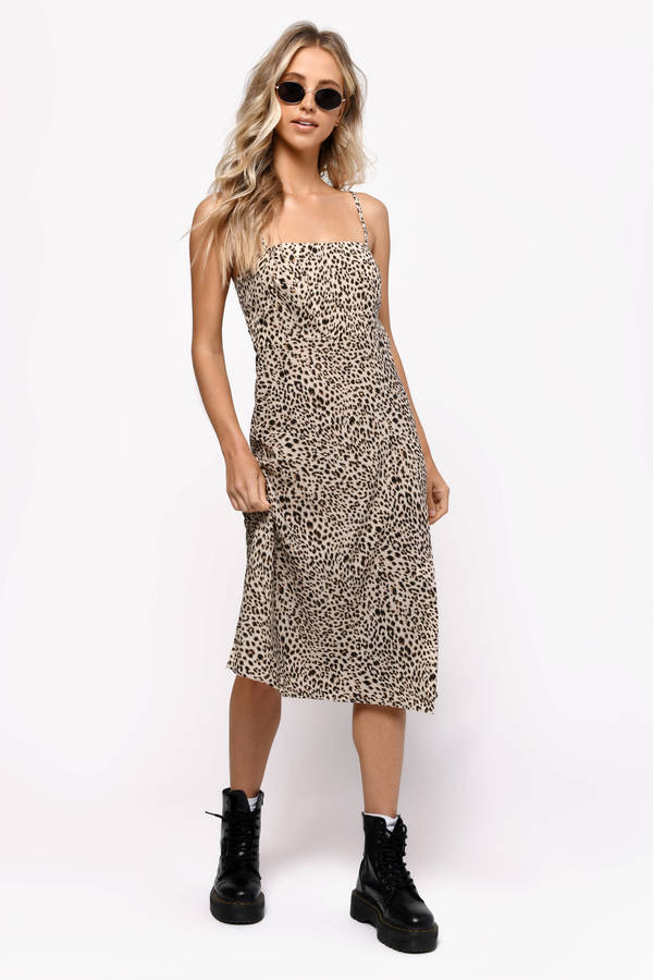 daa1e2ee6c9d Animal Print Dresses, Multi, Give Me More Leopard Print Midi Dress, ...