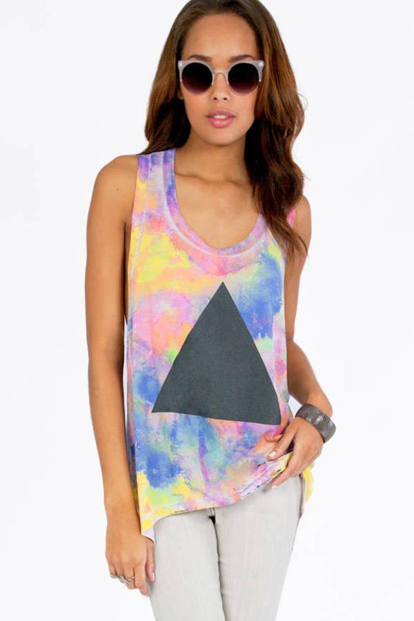 Chaser LA Tie Dye Pyramid Tank
