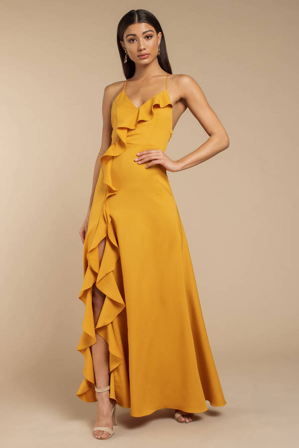 Yellow Dresses Mustard Sundress Long Dress Cocktail Dress Tobi