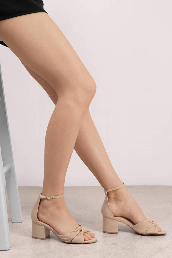 11bfdf2060f3 Trendy Nude Heels - Dress Rehearsal Heels - Nude Twist Heels - S  52 ...