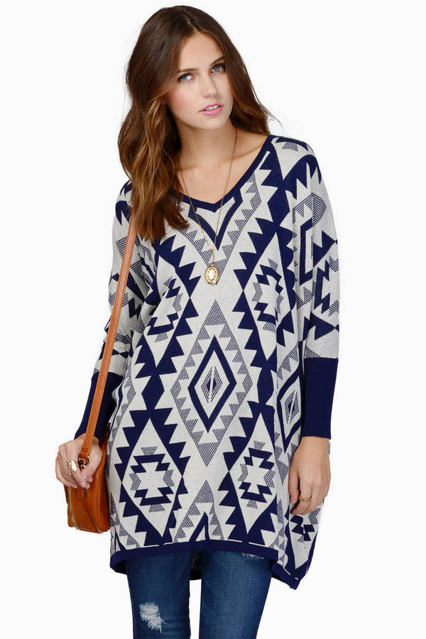 Emmy Aztec Oversized Sweater