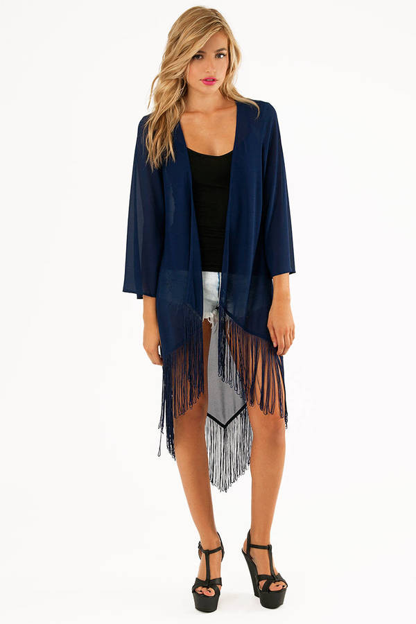 Fancy Fringes Kimono