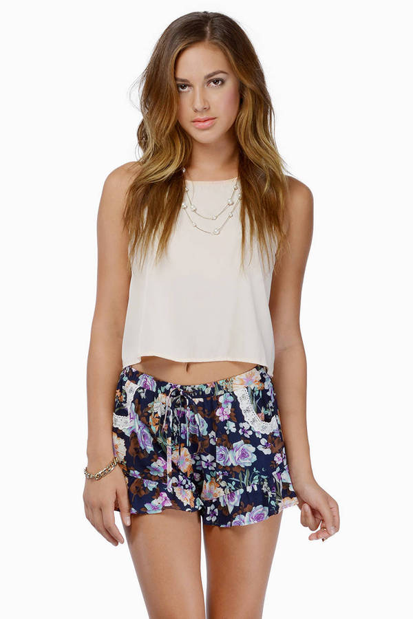 Violets Are Bloom Shorts