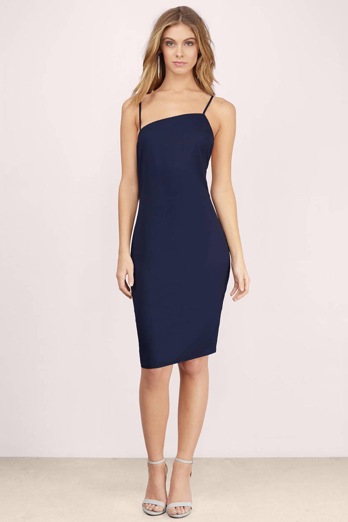 Navy blue dresses shop - Dress on sale