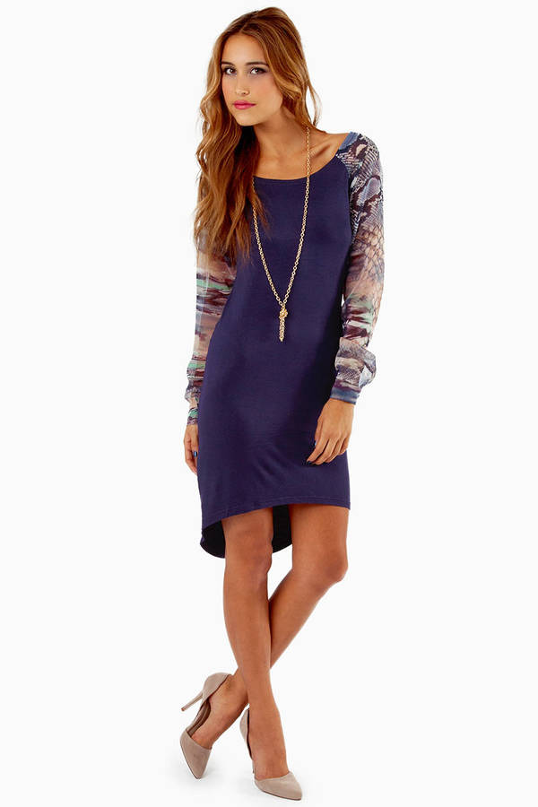 Lauren Chiffon Sleeve Dress