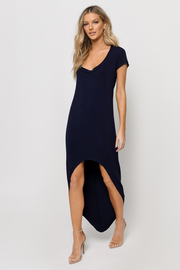 Trendy Olive Maxi Dress - High Low Dress - $10.00