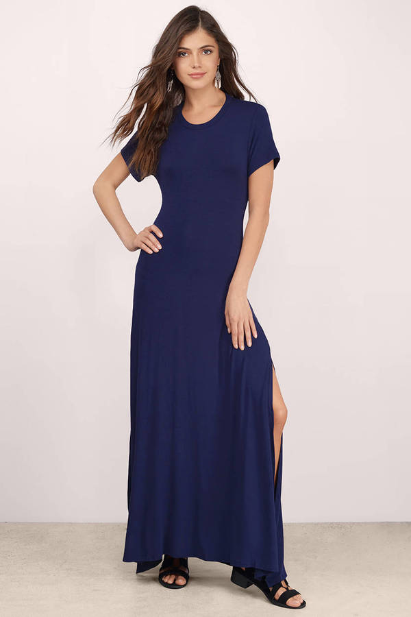 Short Sleeve Maxi Dress  Shop Short Sleeve Maxi Dress at Tobi