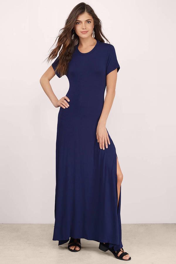 Navy Blue Maxi Dress & Navy Maxi Dress | Tobi